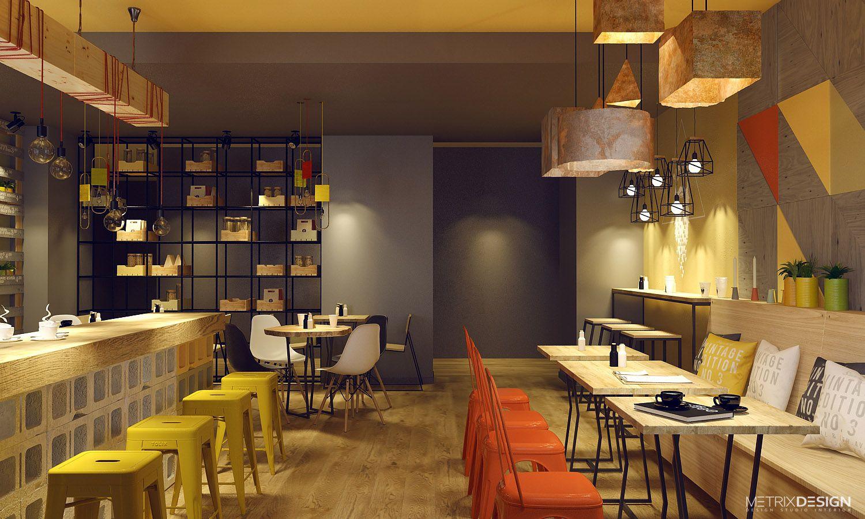 Фото дизайн проект маленького кафе