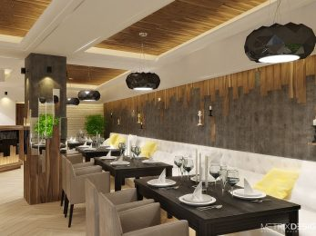 Обновленный интерьер ресторана