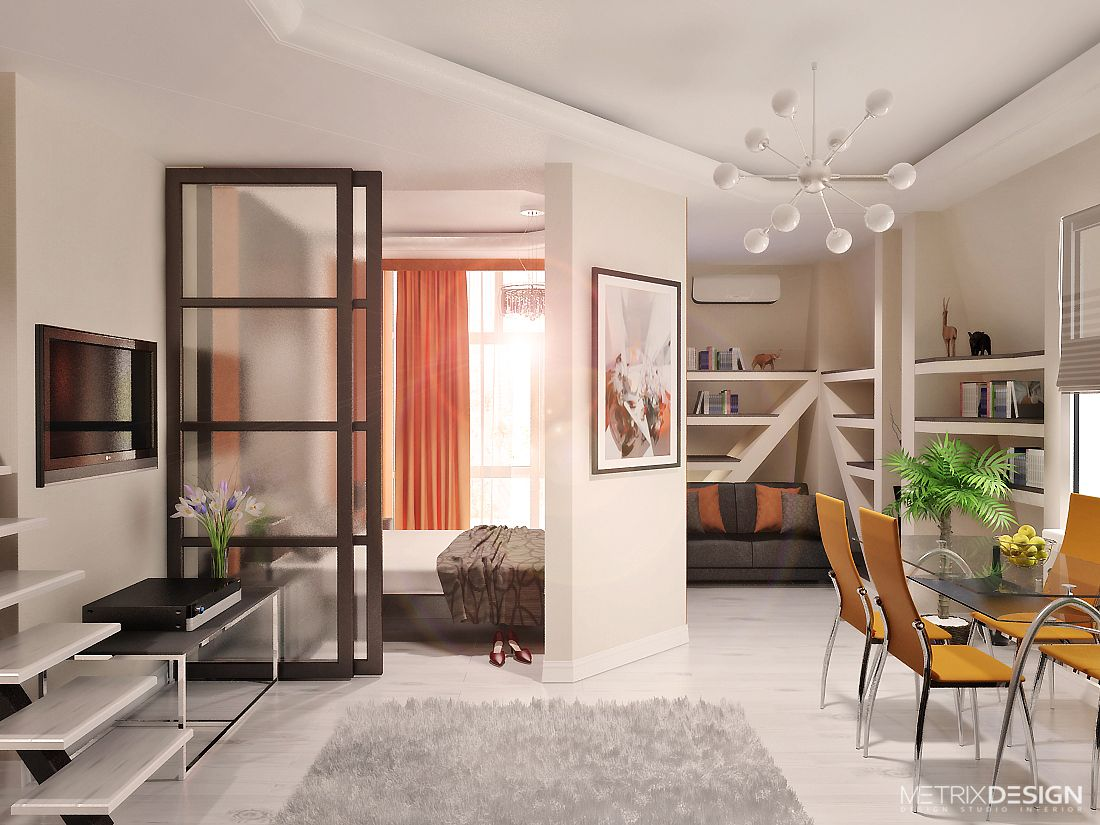 Дизайн малогабаритной квартиры 42 м/кв