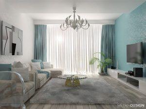 Квартира в бирюзовом цвете 130 м/кв