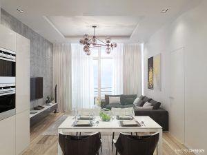Дизайн квартиры у моря 123 м/кв