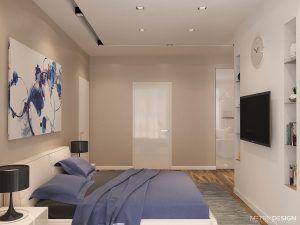 Квартира в бело — серых тонах