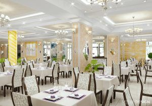 Интерьер ресторана Коралл в Сочи